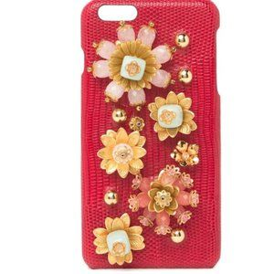 Dolce & Gabbana Leather iPhone 6G Case Floral